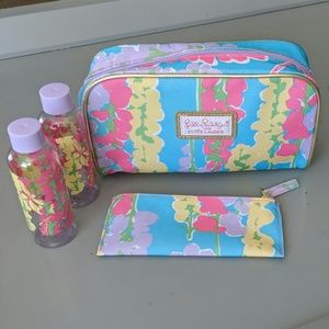 LILLY PULITZER FOR ESTEE LAUDER SET COSMETIC BAG